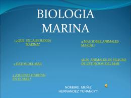 1 ¿que es la biologia marina? - TIC3-301