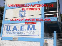 plan-ecologia marina guerrero - Facultad de Ciencias Marinas
