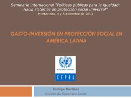 Análisis de la gestión y el gasto social: bases para una propuesta