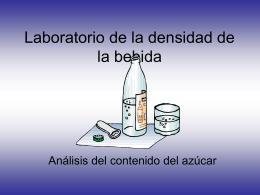 Laboratorio de la concentración del azúcar de la densidad de la
