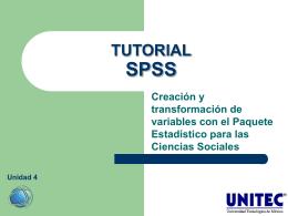 TUTORIAL SPSS Creación y transformación de variables con el