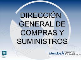 DIRECCIÓN GENERAL DE COMPRAS Y