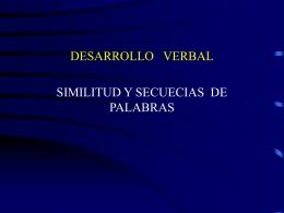 Similitud y Secuencias de Palabras