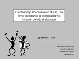 Aprendizaje Cooperativo... - Redes profesionales de CEPIndalo