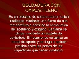 SOLDADURA CON OXIACETILENO