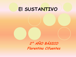 LOS SUSTANTIVOS - Colegio Santa Sabina