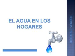 El agua en los hogares - Ministerio de Agricultura, Alimentación y