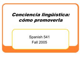 Conciencia lingüística: cómo promoverla