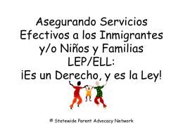Estudiantes Inmigrantes - Statewide Parent Advocacy Network, Inc.