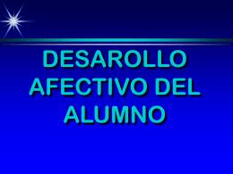 DESAROLLO AFECTIVO DEL ALUMNO