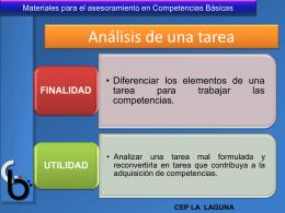 análisis de una tarea para trabajar en competencias