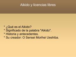 Aikido y licencias libres