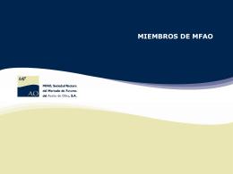 Miembros Industriales - Mercado de futuros del aceite de oliva