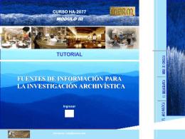 Fuentes de Información en la Investigación Archivística