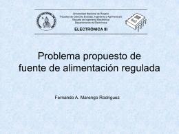 Problema resuelto de fuentes reguladas