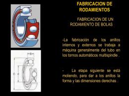 Rodamientos fabricacion