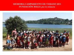 CAMPAMENTO DE VERANO 2011 VALDEPEÑAS (CIUDAD REAL)