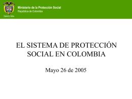 SISTEMA DE PROTECCIÓN SOCIAL