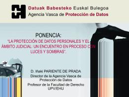 Nociones generales sobre protección de Datos. Las Diputaciones