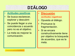 diálogo - discusión