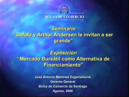 """Seminario """"Sofofa y Arthur Andersen le invitan a ser grande"""
