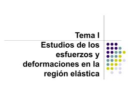 TEMA 1 Estudios de los esfuerzos y deformaciones en la región