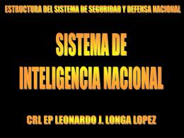 SISTEMA DE INTELIGENCIA