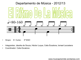 El ritmo musical.