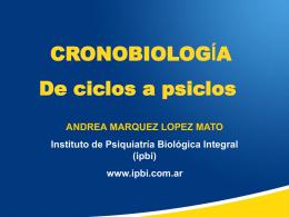 cronobiologia - Instituto de Psiquiatría Biológica Integral