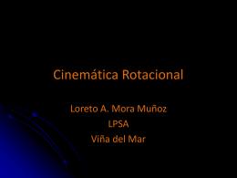 Cinemática Rotacional (cantidades escalares y