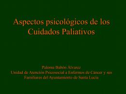Aspectos psicológicos de los cuidados paliativos