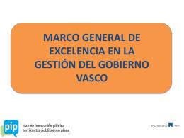 marco general de excelencia en la gestión del