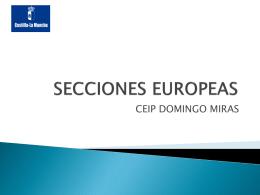 proyecto de secciones europeas