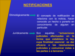 NOTIFICACIONES POR CEDULA