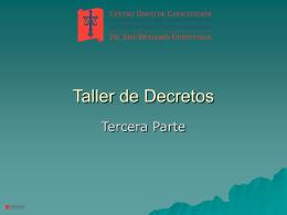 Taller de Decretos