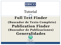 Tutorial: Full Text Finder (Buscador de Texto