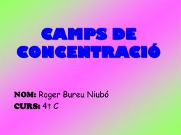 CAMPS DE CONCENTRACIÓ