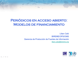 6. Periódicos en acceso abierto: Modelos de