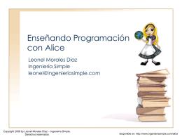 Enseñando Programación con Alice
