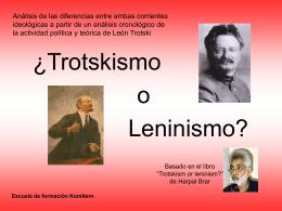 ¿Trotskismo o Leninismo? Harpal Brar
