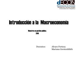 Introducción y nociones de contabilidad nacional