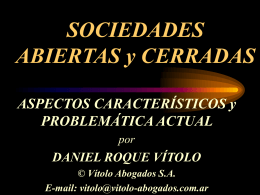SOCIEDADES ABIERTAS Y CERRADAS