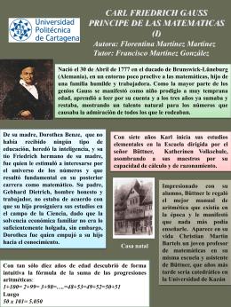 Carl Friedrich Gauss principe de las matemáticas