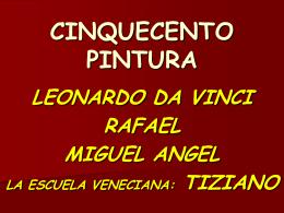 Pintura del Cinquecento. Leonardo