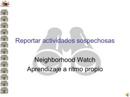 Reportando actividades sospechosas