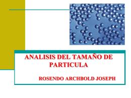 ANALISIS DEL TAMAÑO DE PARTICULA