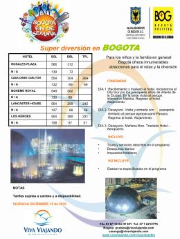 2010 - Diversión en Bogotá - Viva Viajando