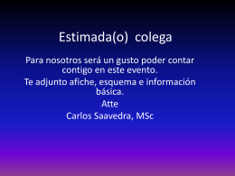 Estimada(o) colega: