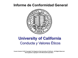 Estándares de Conducta Ética - University of California | Office of
