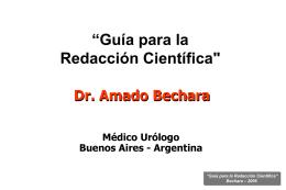 Guía de redacción Científica. Presentación en PowerPoint. (1,5MB.)